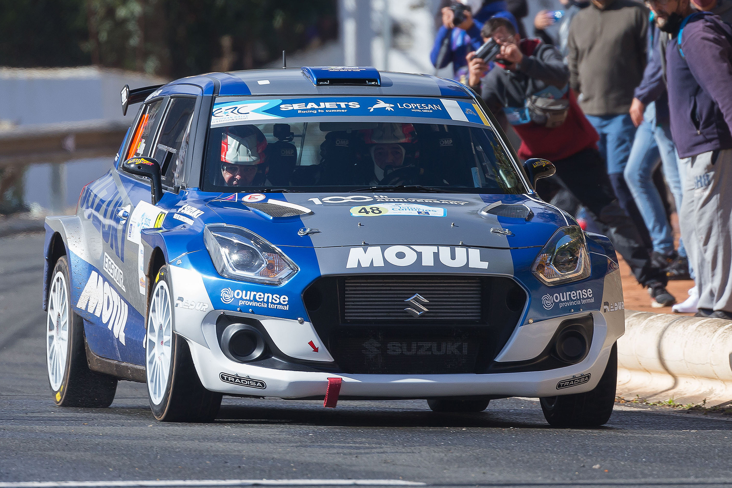 "Joan Vinyes-Jordi Mecader (Suzuki Swift R4lly) a la ""festa final"" de Madrid."