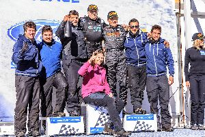 Monje-Monje y Gerard de la Casa en el podi del Circuit Andorra
