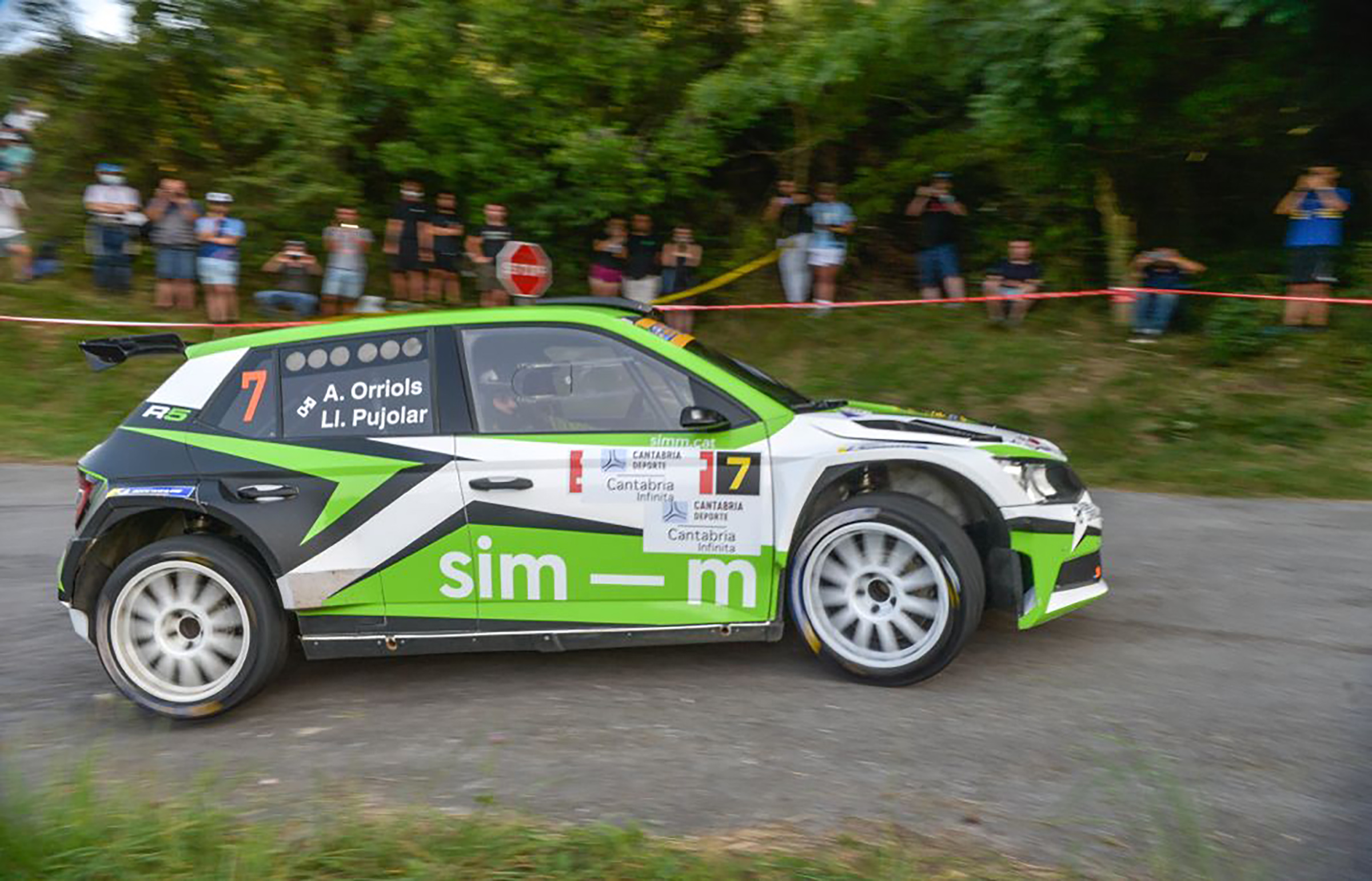 Treballada vuitena posició per a Albert Orriols en el Rallye Cristian López.